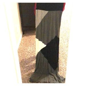 Mixed tone maxi skirt